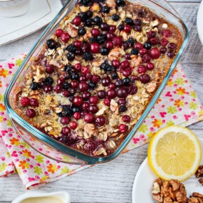 Baked Oatmeal with Berries and Bananas Recipe - Healthy Breakfast Ideas - Baked Oatmeal Healthy Recipe