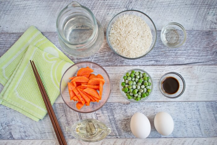 Ingridiens for Chinese Fried Rice