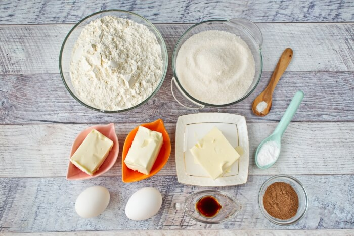 Ingridiens for Cinnabun Cookies