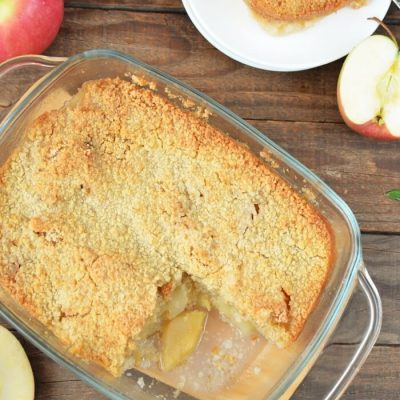 Classic Apple Cobbler Recipe - Desserts from Childhood - Apple Cobbler Crumble