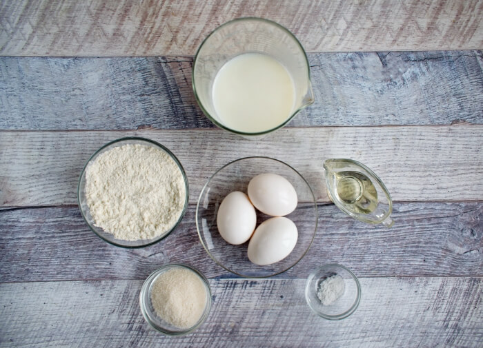 Ingridiens for Easy French Crepes