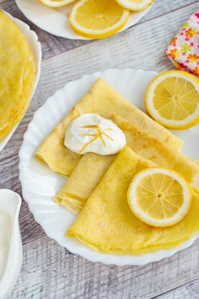 French version of pancakes for a romantic breakfast