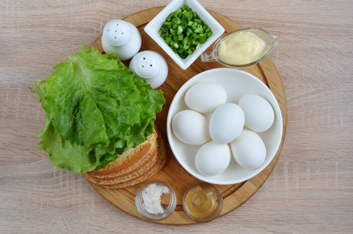 Ingridiens for Egg Mayo Sandwich