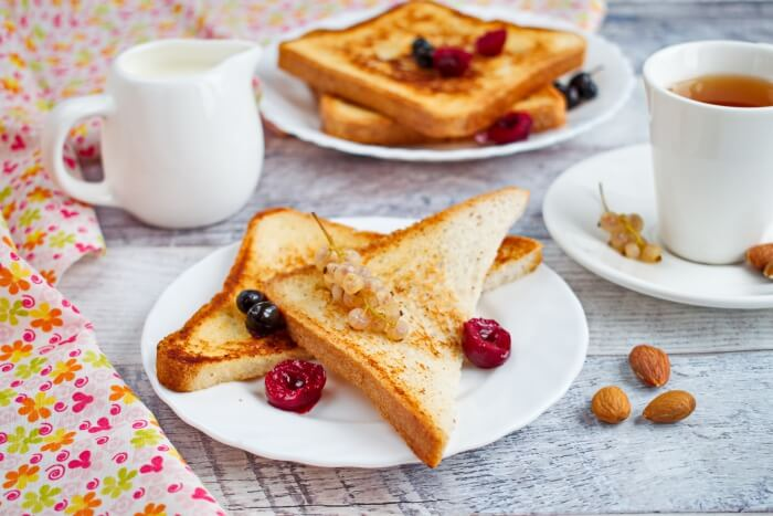 How to serve Eggless French Toast