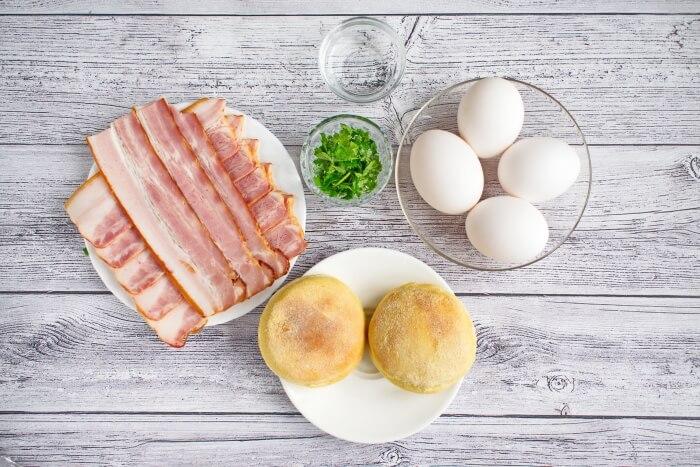 Ingridiens for Easy Eggs Benedict