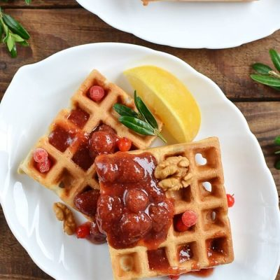 French Toast Waffles Recipe - Best Breakfast Waffles Recipe - Cinnamon Toast Crunch Waffles