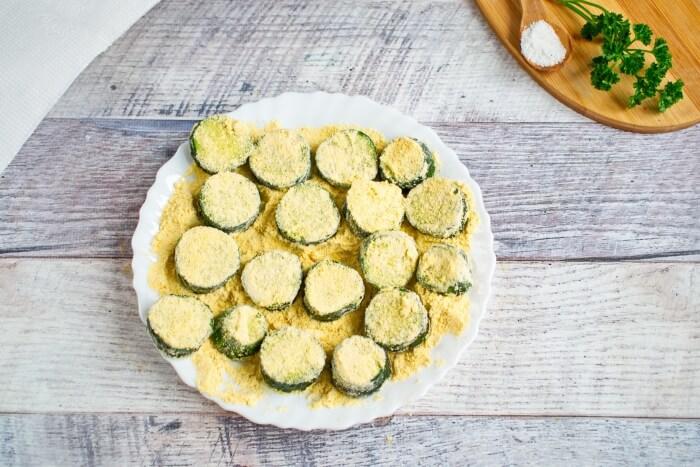 Fried Cucumber Rounds recipe - step 2