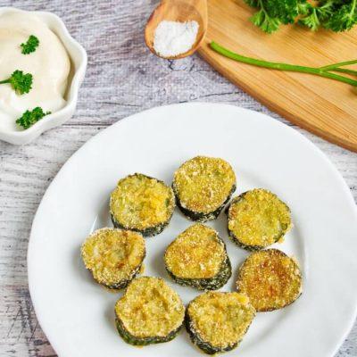 Fried Cucumber Rounds Recipe - Cheap Vegan Snacks Ideas - Cucumber recipes