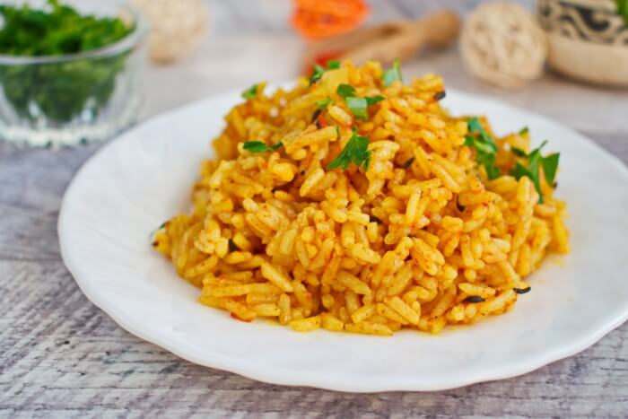 How to serve One Pan Spiced Tomato Rice