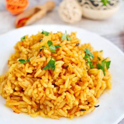 One Pot Tomato Rice Recipe - Tasty Recipes with Rice - Instant Pot Tomato Rice