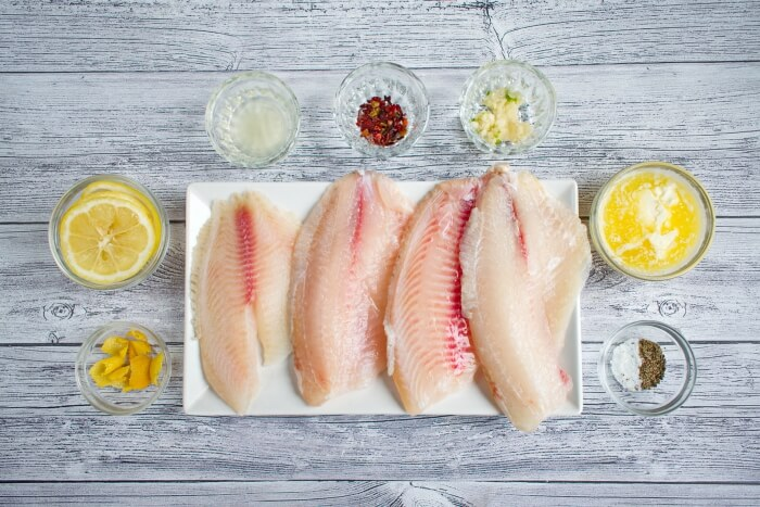 Ingridiens for Keto Oven Baked Tilapia