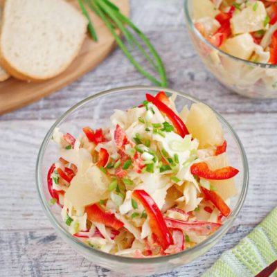 Pineapple Slaw Recipe - Dishes with Pineapple Ideas - Coleslaw with Pineapple Recipe