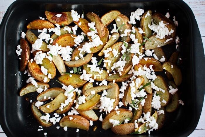 Greek Potato Wedges with Feta recipe - step 5