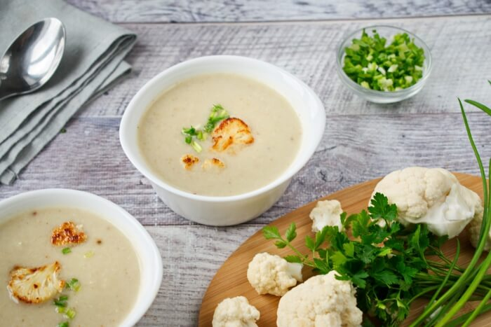 How to serve Roasted Cauliflower Soup