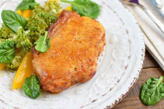How to serve Keto Spiced Baked Pork Chops