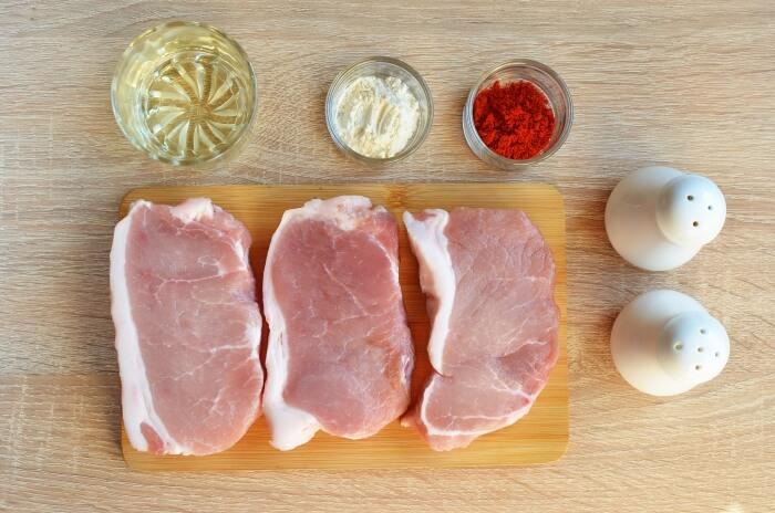Ingridiens for Keto Spiced Baked Pork Chops