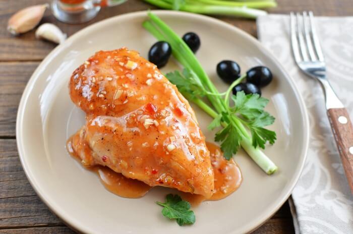 Spicy Baked Chicken Recipe - Chicken Breasts in Sweet Sauce Recipe - Hot and Spicy Baked Chicken Recipes
