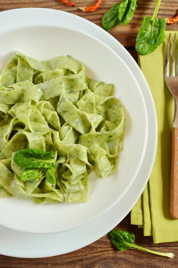 Simple Spinach pasta recipe