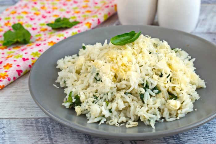 How to serve Spinach Parmesan Risotto