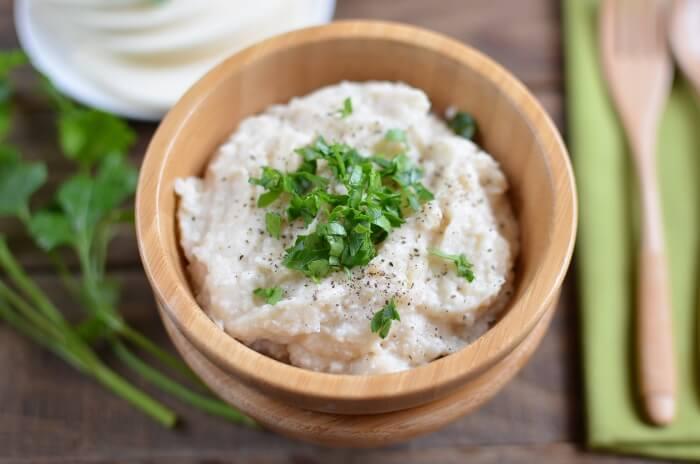 How to serve Cauliflower Mash Keto