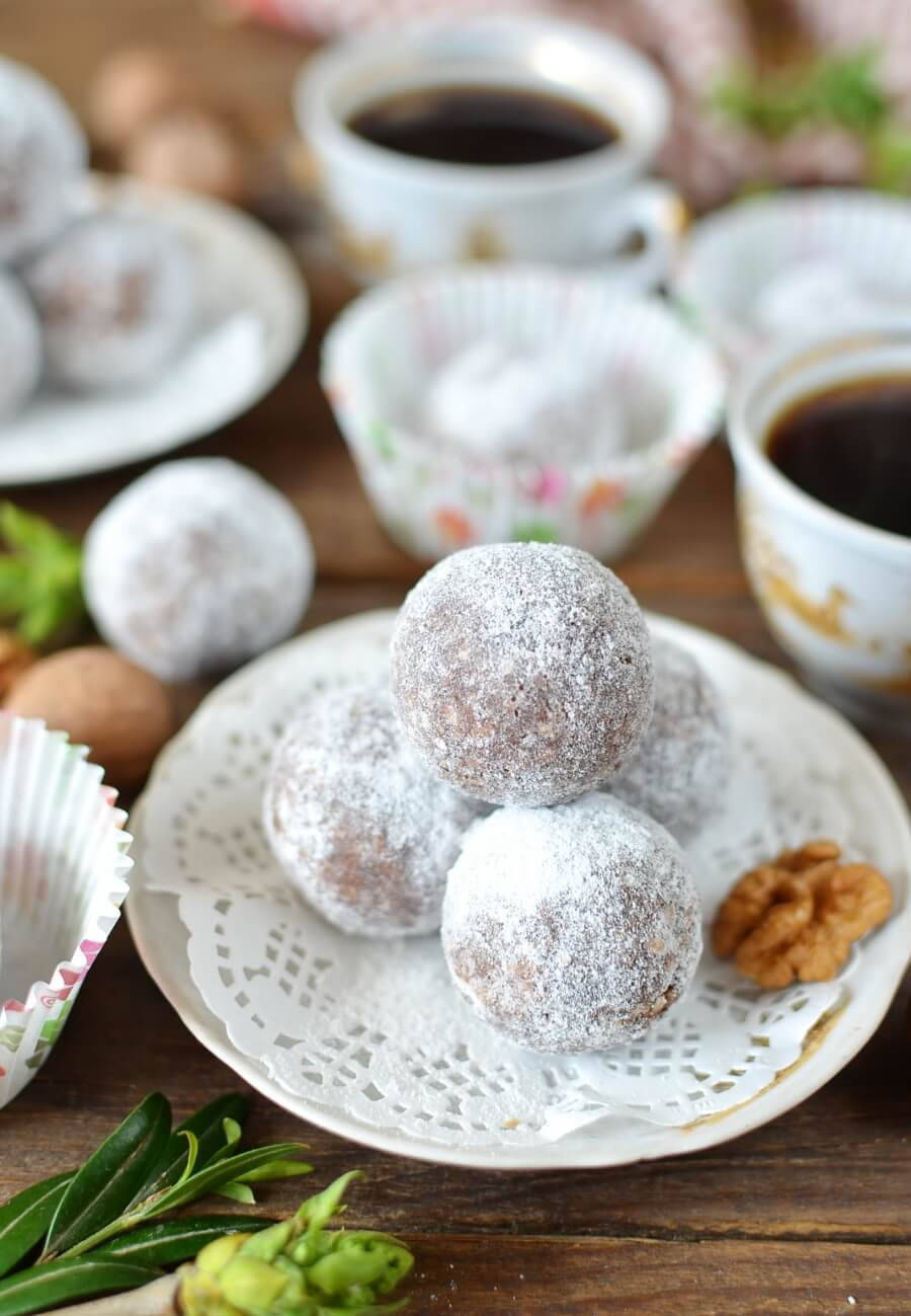 Cocoa and Nut Rum Balls