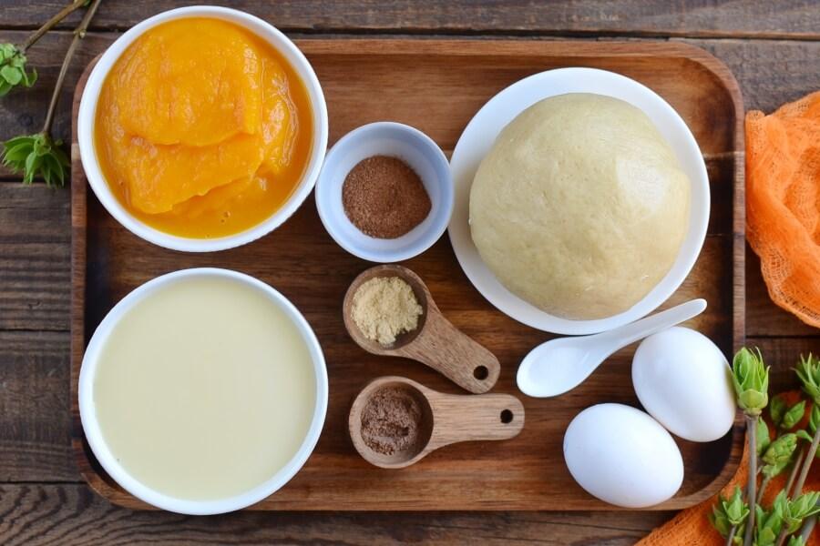 Ingridiens for Creamy Pumpkin Pie
