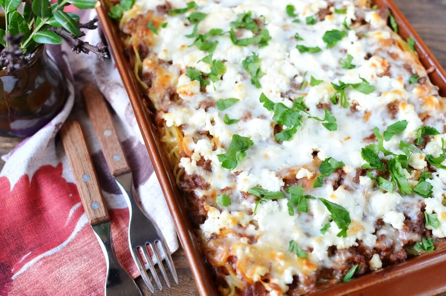How to serve Baked Spaghetti Casserole