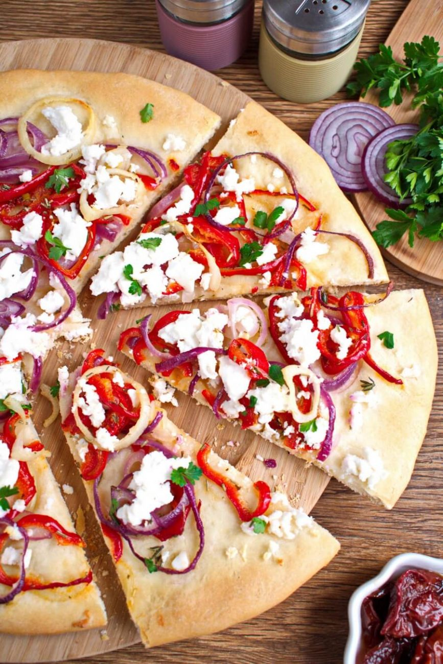 Bell Pepper and Feta Pizza
