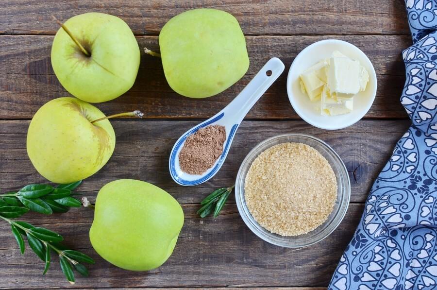 Ingridiens for Cinnamon Baked Apples