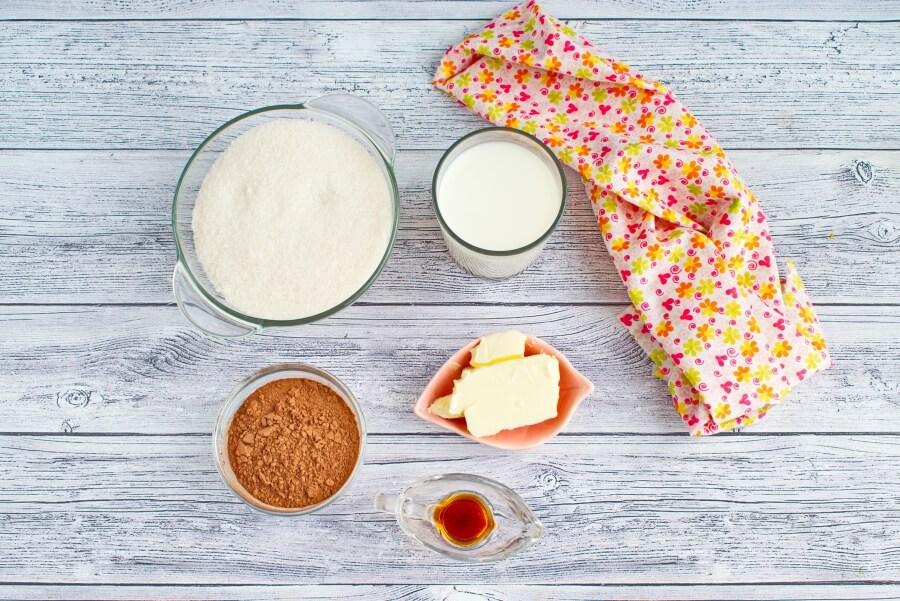 Ingridiens for Classic Chocolate Fudge