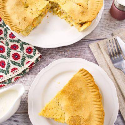 How to Cook Creamy Salmon Pie Recipe - Easy Homemade Salmon Pie Recipe - Healthy Salmon Pie