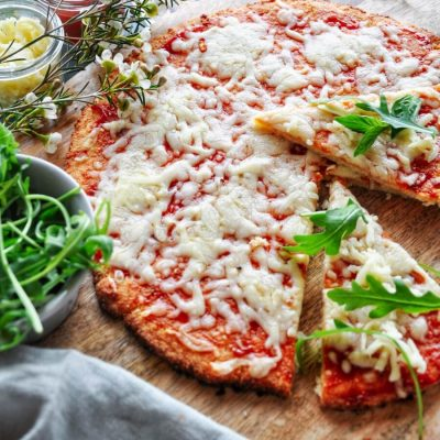 How to Cook Easy Keto Pizza Crust Recipe - Healthy Low-carb Pizza Recipe - Fluffy Keto Pizza Crust