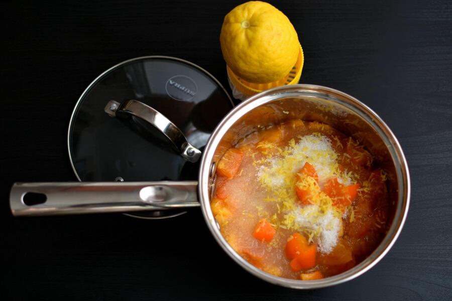 Persimmon Jam recipe - step 1