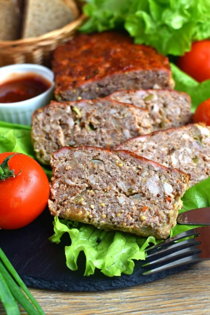 Eggless Firehouse Meatloaf