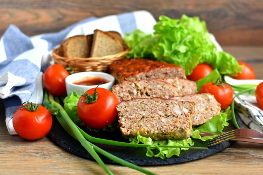 How to serve Eggless Firehouse Meatloaf
