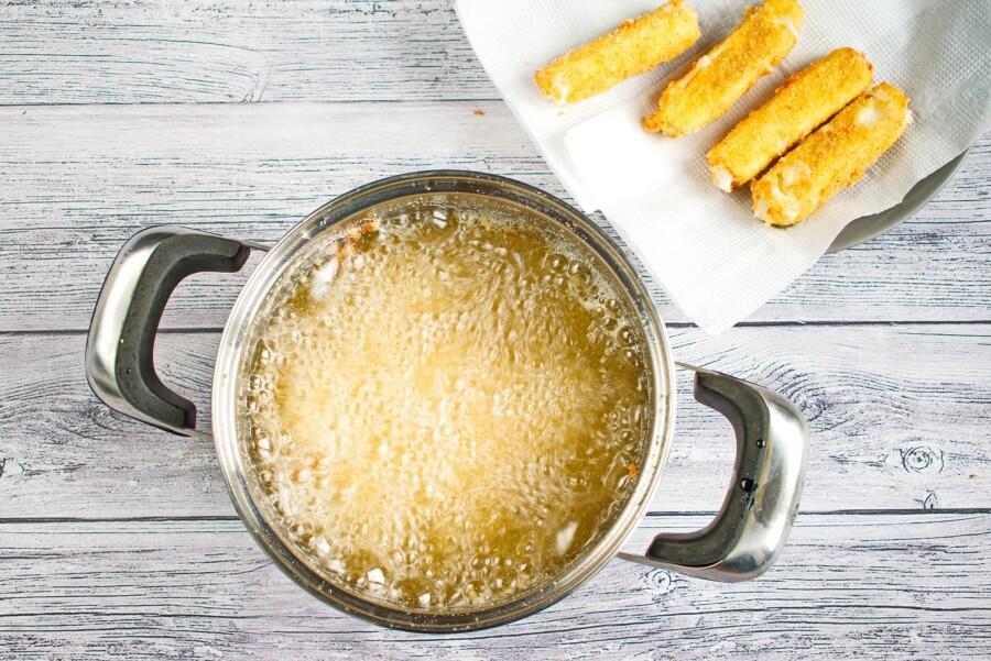 Fried Mozzarella Sticks recipe - step 4
