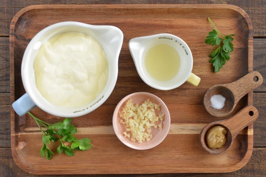 Ingridiens for Garlic Mayonnaise