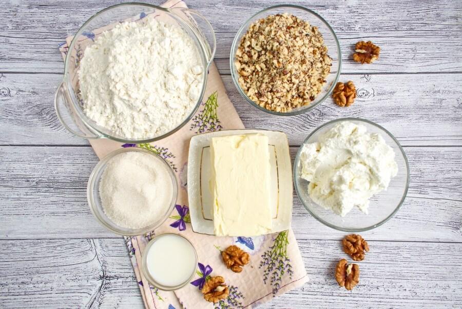 Ingridiens for Hungarian Kiffle Cookies
