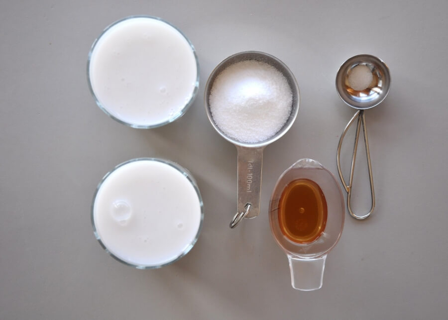 Ingridiens for Keto Vanilla Ice Cream