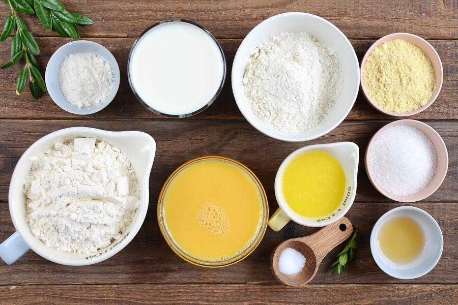 Ingridiens for Malted Milk Waffles
