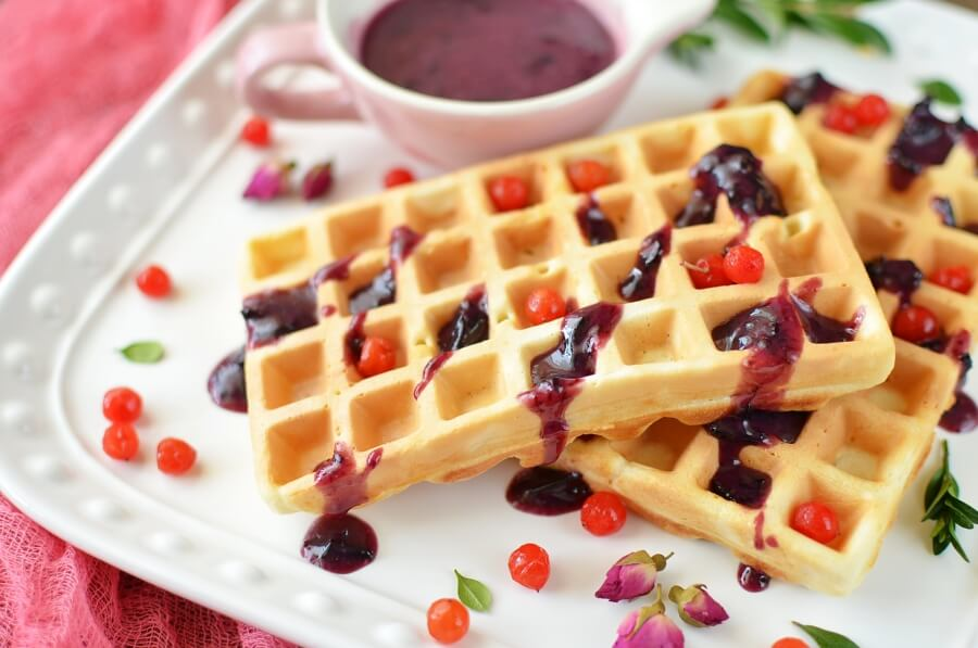 How to serve Malted Milk Waffles