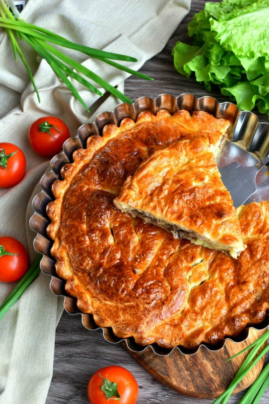 Meat and Onion Pie