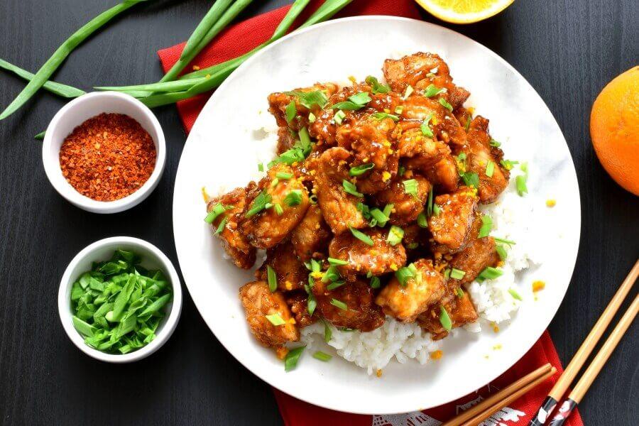 How to serve Chinese Orange Chicken