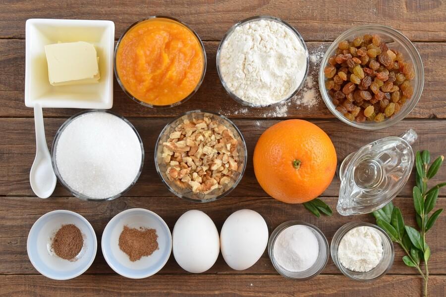 Ingridiens for Pumpkin Orange Cake