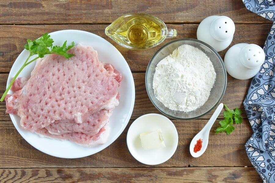 Ingridiens for Pan-Fried Pork Chops