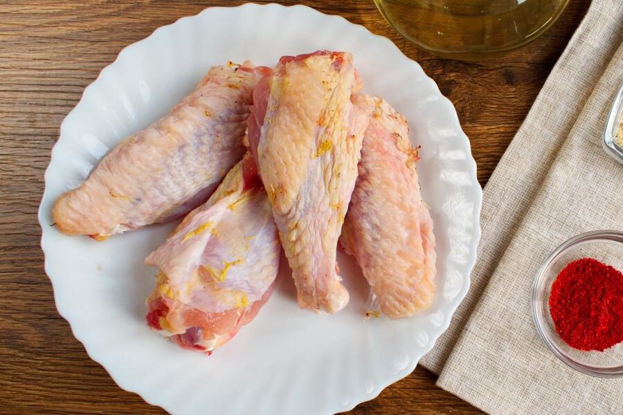 Keto Pan-Fried Turkey Wings recipe - step 1
