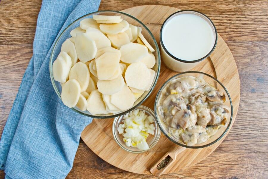 Ingridiens for Scalloped Potato Gratin