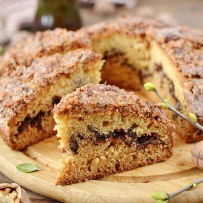 How to Cook Streusel Coffee Cake Recipe - Easy German Sour Cream Streusel Coffee Cake with Cinnamon - Sour Cream Streusel Coffee Cake