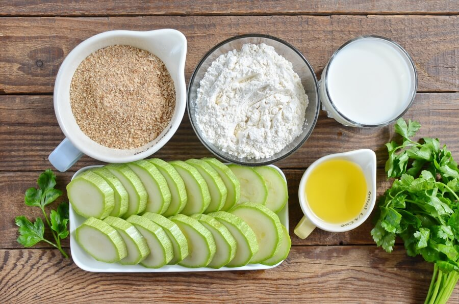Ingridiens for Zucchini Fritters