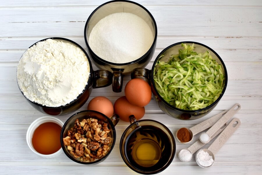 Ingridiens for Zucchini Loaf Cake